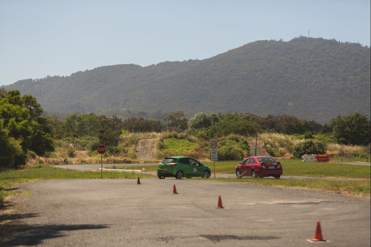 Cars Leaving Slalom 1